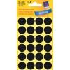 Etikety Avery kruhové 18 mm, čierne