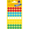 Etikety Avery kruhové 12 mm, mix farieb
