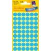 Etikety Avery kruhové 12 mm, modré