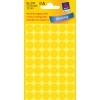 Etikety Avery kruhové 12 mm, žlté