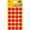 Etikety Avery kruhové 18 mm, neónovo červené