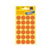 Etikety Avery kruhové 18 mm, neónovo oranžové