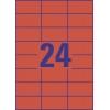 Etikety univerzálne 70x37 mm Avery A4 červené, 100 listov