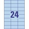 Etikety univerzálne 70x37 mm Avery A4 modré, 100 listov