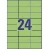 Etikety univerzálne 70x37 mm Avery A4 zelené, 100 listov