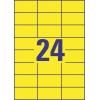 Etikety univerzálne 70x37 mm Avery A4 žlté, 100 listov