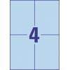 Etikety univerzálne 105 x 148 mm Avery A4 modré, 100 listov