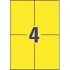 Etikety univerzálne 105 x 148 mm Avery A4 žlté, 100 listov