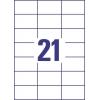 Etikety univerzálne 70 x 42,3 mm Avery A4, 100 listov