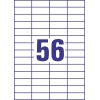 Etikety univerzálne 52,5 x 21,1 mm Avery A4, 100 listov