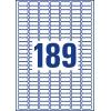 Etikety Avery odnímateľné  25,4x10 mm, biele
