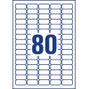 Etikety Avery odnímateľné  35,6x16,9mm, biele