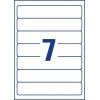 Etikety univerzálne 38x192 mm Avery, na zakladače