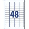 Etikety Avery 45,7x21,2 mm, polyesterové biele, odnímateľné