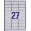 Etikety Avery 63,5 x 29,6 mm, polyesterové strieborné