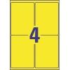 Etikety Avery 99,1 x 139 mm, polyesterové žlté