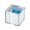 Blok kocka nelepená 83x83x75mm biela v čírej škatuľke
