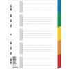 Plastový rozraďovač 5-dielny farebný (7704095PL-99)