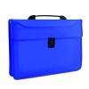 Aktovka s držadlom plastová modrá