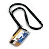 Visačka na 2 plastové karty DE LUXE DUO s remienkom