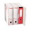Archívny box na zakladač Esselte biela/červená
