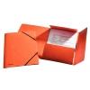 Prešpánový obal s gumičkami oranžový