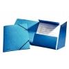 Prešpánový obal s gumičkami modrý