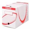 Archívny box 200mm Esselte biela/červená