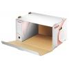 Archívna škatuľa s predným otváraním biela/červená