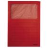 Zakladacie zložky s okienkom červené