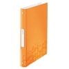 Zakladač 4-krúžkový Leitz WOW metalická oranžová
