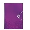 Aktovka s priehradkami purpurová WOW
