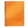 Poznámkový blok WOW A4, štvorčeková, oranžová