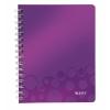 Poznámkový blok WOW A4, štvorčeková, purpurová