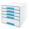 Zásuvkový box Leitz WOW metalická modrá