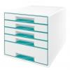 Zásuvkový box Leitz WOW ľadovo modrá