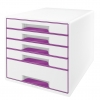 Zásuvkový box Leitz WOW purpurová