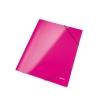 Kartónový obal lesklý s gumičkou WOW metalický ružový