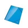 Kartónový obal lesklý s gumičkou WOW metalický modrý