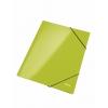 Kartónový obal lesklý s gumičkou WOW metalický zelený