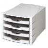 Zásuvkový box Monitor otvorený sivá/sivá