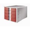 Zásuvkový box Impuls zatvorený sivá/červená