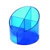 Stojan na perá economy priehľadná modrá