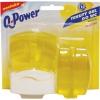 Toaletný blok Q-POWER Citrón 3 x 55 ml