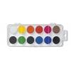 Školské vodové farby, 22.5mm, 12 farieb