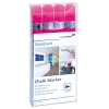 Popisovač na tabule GLASSBOARD ružový, 4ks