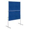 Moderačná tabuľa plstená 150x120 cm ECONOMY modrá