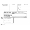 Poštové obálky B6 doručenka do VR OD, biele 1000 ks Nedoposi