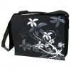Taška na notebook 16 Messenger flower čierna