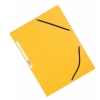 Obal s tromi chlopňami a gumičkou Q-Connect žltý